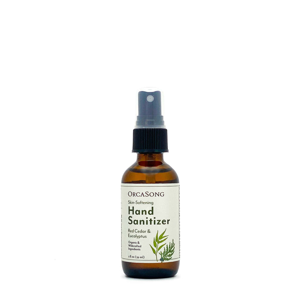 Red Cedar and Eucalyptus Hand Sanitizer Spray Travel-Size Glass Bottle