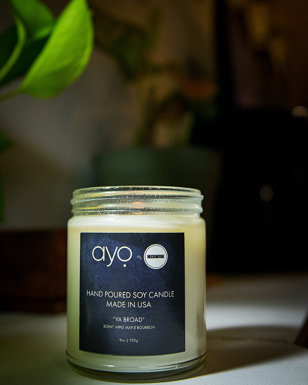 "*LIMITED SUPPLIES*Ayo Fragrance x NeckMusik ""Ya Broad"" Candle"