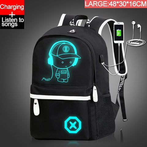 Children Backpack School Bags For Boy Girls Anime Luminous School Backpack - swipeproffitnow