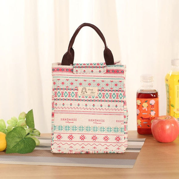 Female Lunch Food Box Bag Fashion Insulated Thermal Food Picnic Lunch Bags - swipeproffitnow