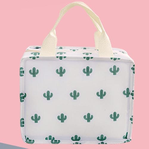 Functional Pattern Cooler Lunch Box Portable Insulated Canvas Lunch Bag - swipeproffitnow