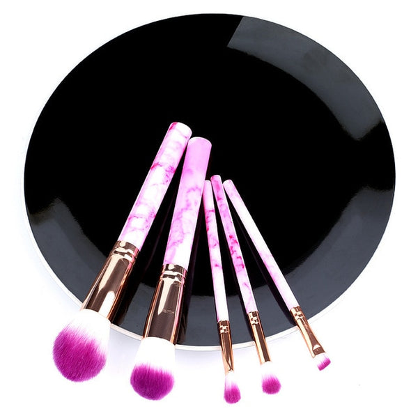 5pcs Soft Set Of Makeup Brushes kits For Highlighter Eye Cosmetic Powder Foundation - swipeproffitnow
