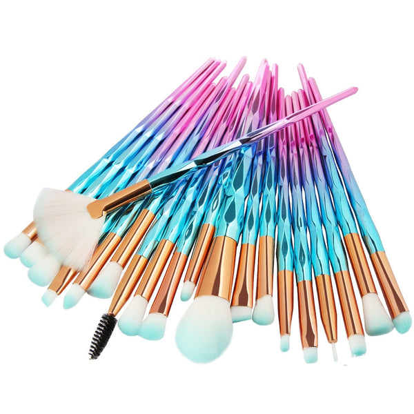 20Pcs Diamond Makeup Brushes Set Powder Foundation Blush Blending Eye shadow - swipeproffitnow
