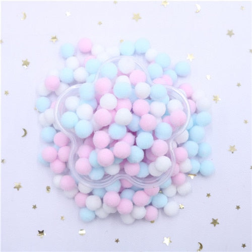 400 Pcs/ Bag Multi Colors 10mm Pompoms Balls for DIY Party Home Garden - swipeproffitnow