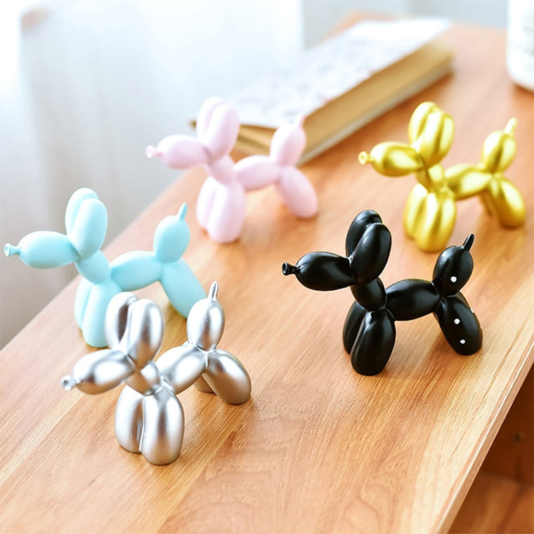 Resin Crafts Sculpture Gift Cute Small Balloon Dog
