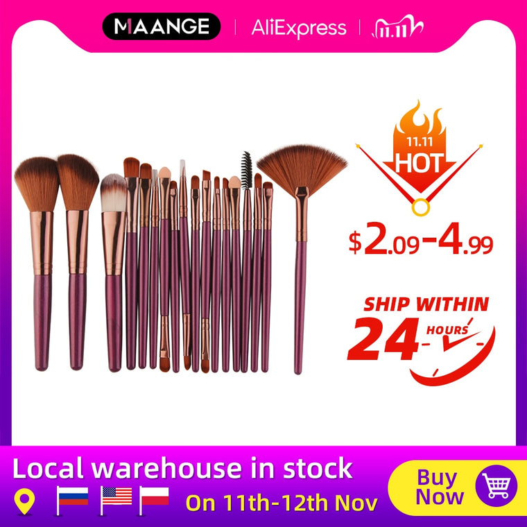 Makeup Brushes Tool Set Cosmetic Powder Eye Shadow
