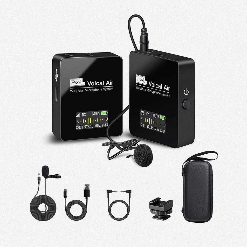 Pixel UHF Wireless Lavalier Microphone System Voical Air with 1 Receiver, 1 Transmitters