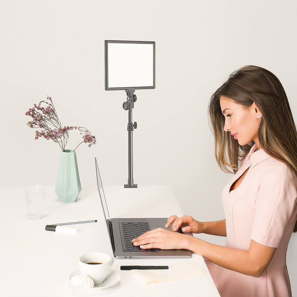 Dazzne Desk Mount LED Video Light D50 (1Pack) with Remote and C-Clamp