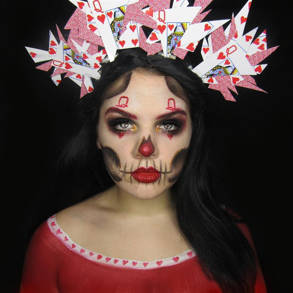 Queen of Hearts Day of the Dead Makeup How To