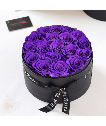 violet roses flower gift bouquet at Iluba Roses shop