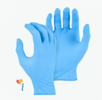 Load image into Gallery viewer, 4 Mil Industrial Grade Blue Nitrile Gloves