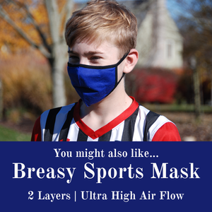 Breasy Sports Mask (2 layers, highest air flow)