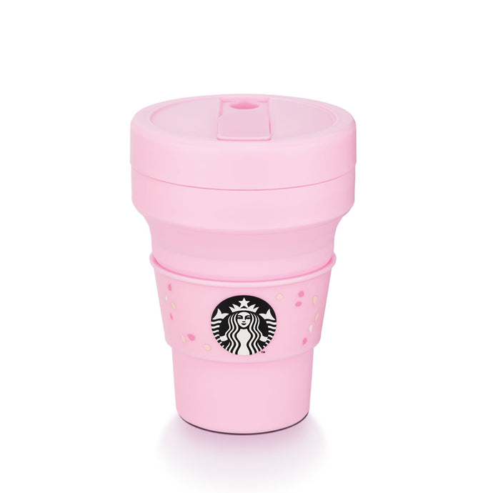 Stojo Plastic Pink Collapsible Cold Cup 16oz (Limited Edition)