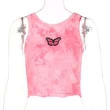 Load image into Gallery viewer, 2020 Summer New Fashion Hot Sale Butterfly Embroidered Vest Women All-Match Slim Top