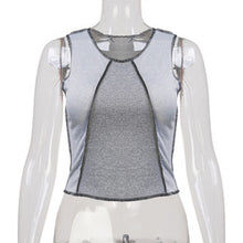 Load image into Gallery viewer, New Women's Shirts With Contrasting Color U Collar Vest