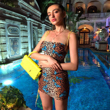 Load image into Gallery viewer, Hot Sale Sleeveless Dress Women'S 2020 Summer New Leopard Print Butterfly Tube Top Backless Dress