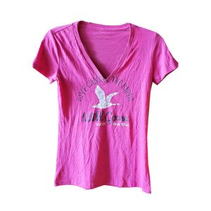 "Wild Goose ""Give Cancer the Bird"" V-Neck - Pink"