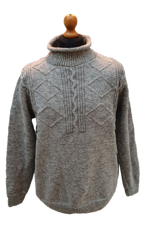 Headlow pure lambswool high neck jumper for men and women