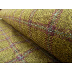 Strong Olive Plaid Tweed