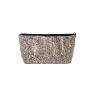 Slate Herringbone Wash Bag
