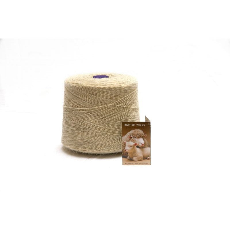 Ecru Pure Wool Yarn