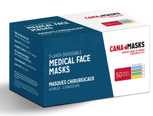 Small box of masks contains 50 ASTM level 2 certify masks made in Canada by Canadians in Ontario. Buying our masks gives you the best confident as you are buying from your locals and shipping will always be faster than other brands