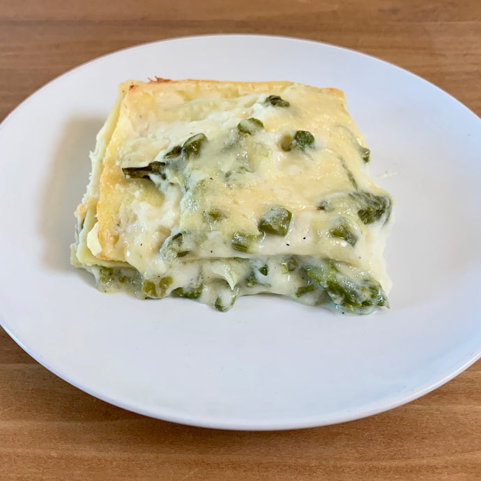 Specialty Lasagna Bianca with Asparagus & Brie