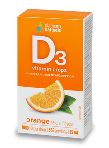 Gouttes de vitamine D3 orange