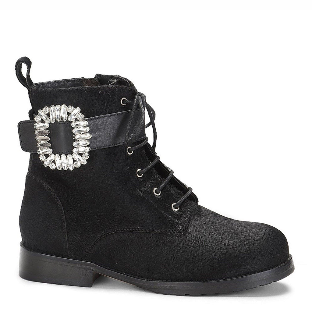 Saint Leone Tan Woven Leather Ankle Boots