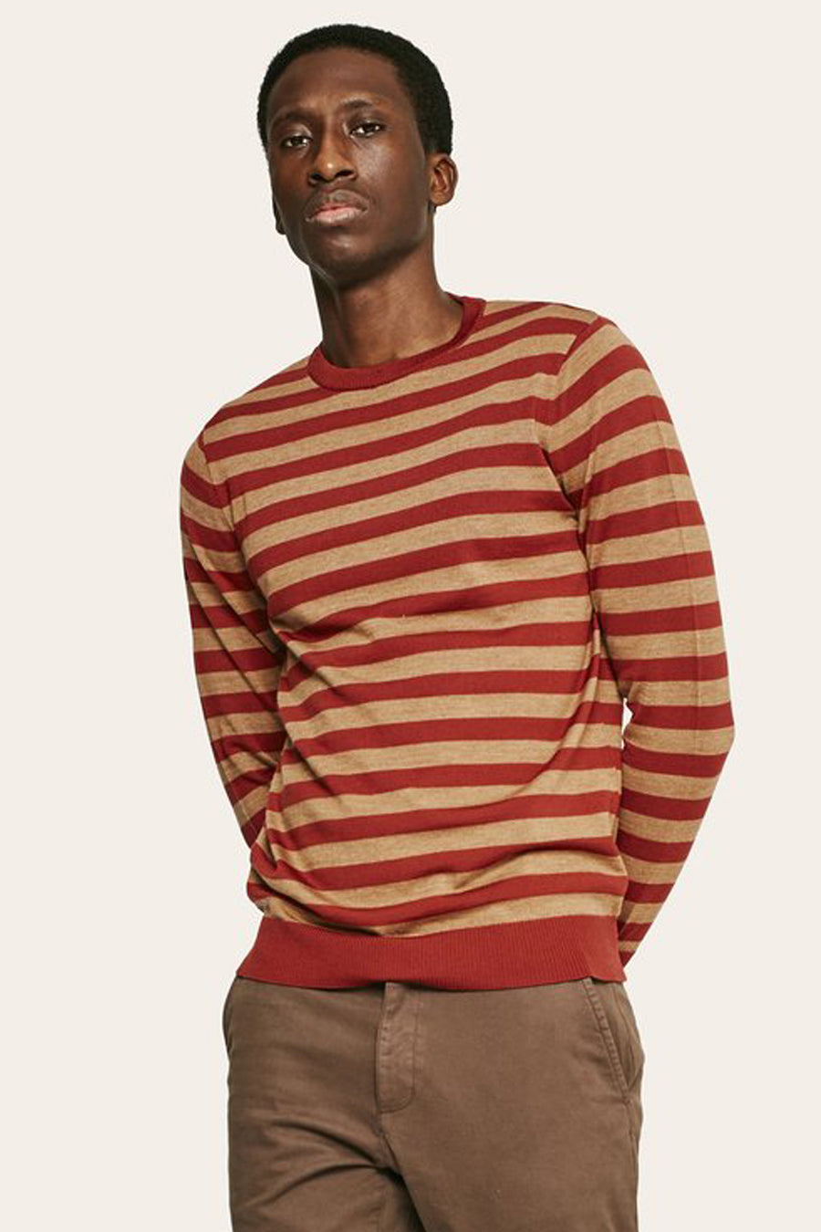 Stripes Sweater - Terracotta