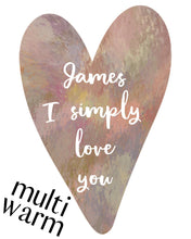 Load image into Gallery viewer, Valentine's Custom Watercolour Design. Personalised for you and emailed within 48 hours.