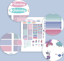 Load image into Gallery viewer, Festival Girls Planner Kit for Erin Condren or Happy Planner. Boho, hippy style planner stickers, perfect for summer music festivals