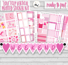 Load image into Gallery viewer, Valentine's Planner Kit with scrumptious shades of pink. Handmade by a UK seller.