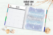 Load image into Gallery viewer, 7 x 9 Printable Planner Dashboard with Watercolour Soft Pastel Colours - THE MOST IMPORTANT THING A GIRL WEARS IS HER CONFIDENCE