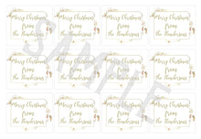 Load image into Gallery viewer, Customised Christmas Tags, Vintage Style Xmas Stickers, Xmas Gift Stickers, Holiday Parcel Gift Labels, Personalised Text Xmas Sticker Sheet