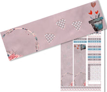 Load image into Gallery viewer, 'LoveLoveLove' A printable Valentine planner stickers set, in gorgeous deep but muted shades.
