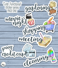 Load image into Gallery viewer, Kawaii House Cleaning PlannerStickers | House Chores Stickers | Kawaii Housework Stickers.