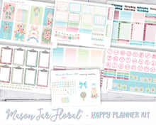 Load image into Gallery viewer, Weekly Sticker Kit to fit Happy Planner Classic | Pastel coloured florals, mason jars, and hand-doodled icons.