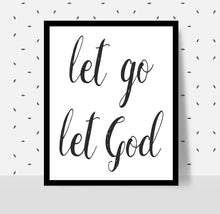Load image into Gallery viewer, LET GO LET GOD - Alcoholics Anonymous, 12-step programs recovery Printable.
