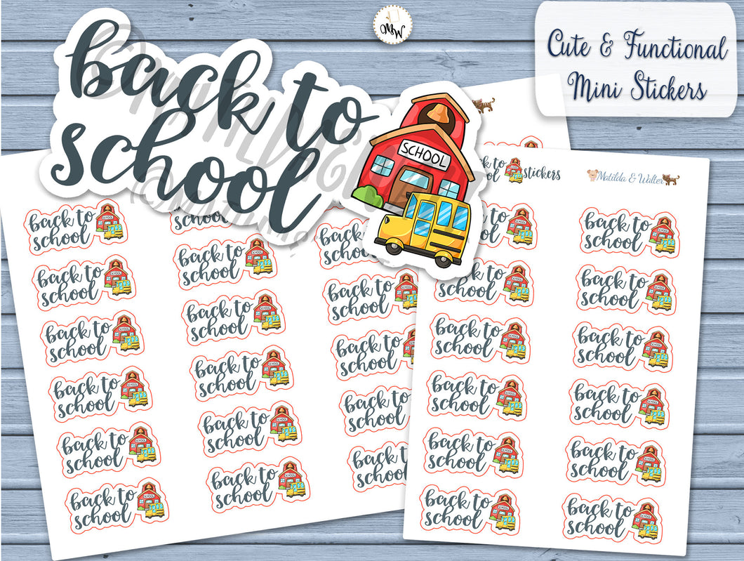 Back to School Kawaii Handmade Planner Stickers