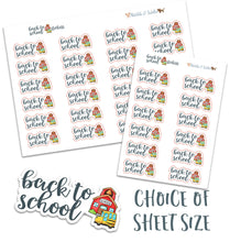 Load image into Gallery viewer, Back to School Kawaii Handmade Planner Stickers