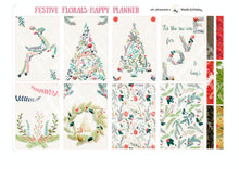 Load image into Gallery viewer, Christmas Kit for Happy Planner - FESTIVE FLORALS | Xmas Trees Holiday Mambi Sticker Kit | New Holiday Kit | Winter Theme Planner Stickers