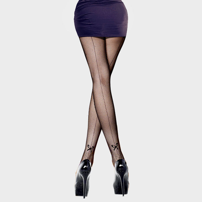 """Wrapped With An Accented Bow"" Statement Hosiery"