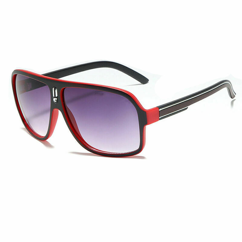 Retro Club Carrera Glasses - Red & Black