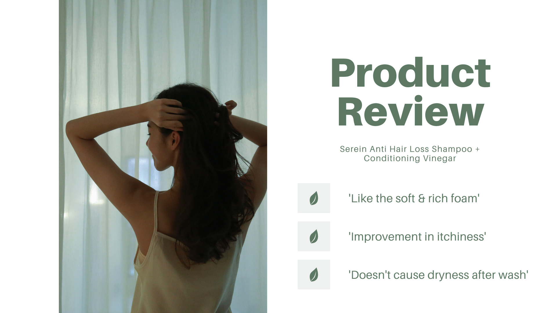 Cosmic Moment Serein Anti Hair Loss Shampoo Conditioner Product Review