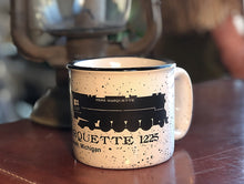 Load image into Gallery viewer, Pere Marquette White Campfire Mug-  Black Speckle