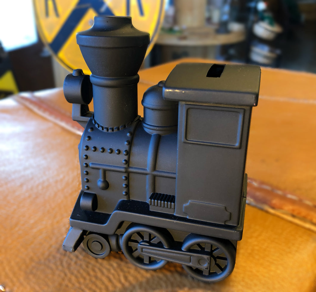 Matte Black Steam Engine Bank