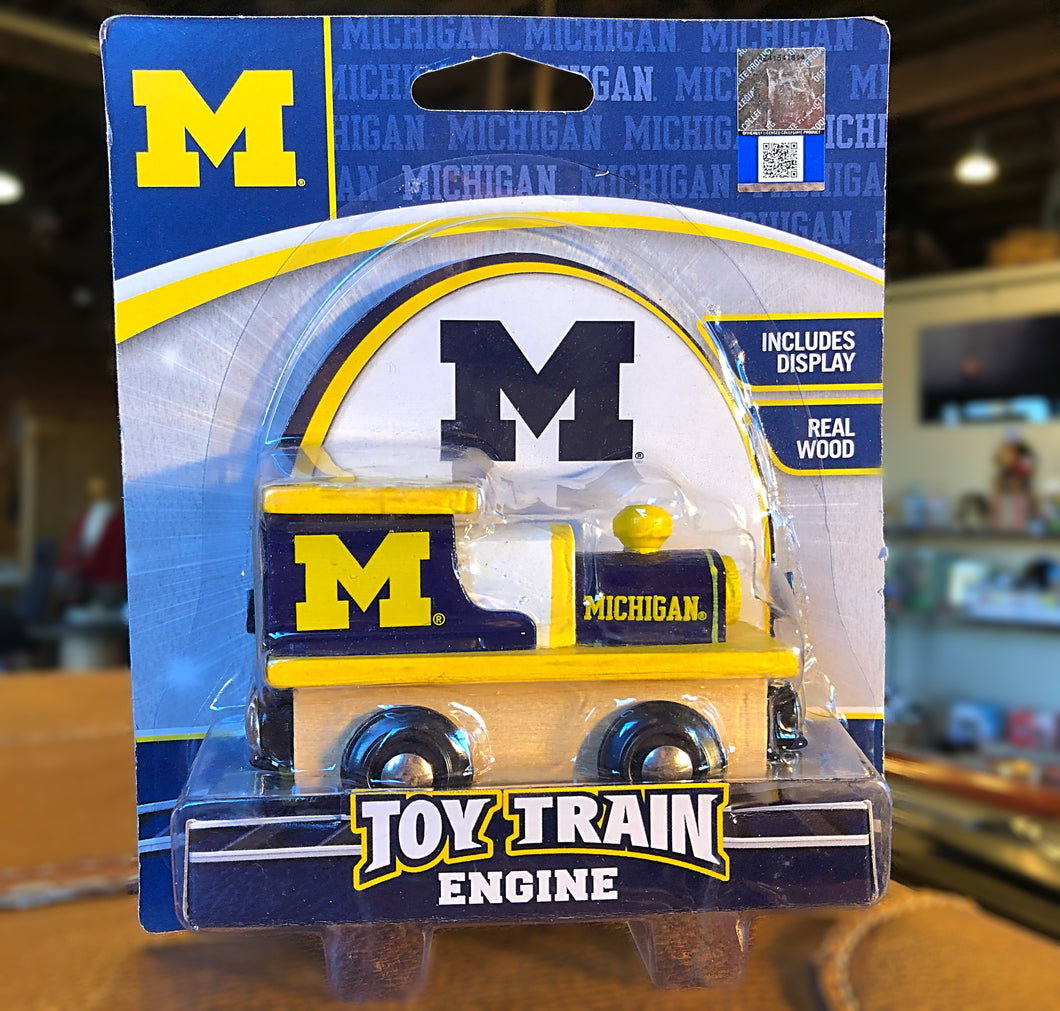 UofM Wooden Toy Train