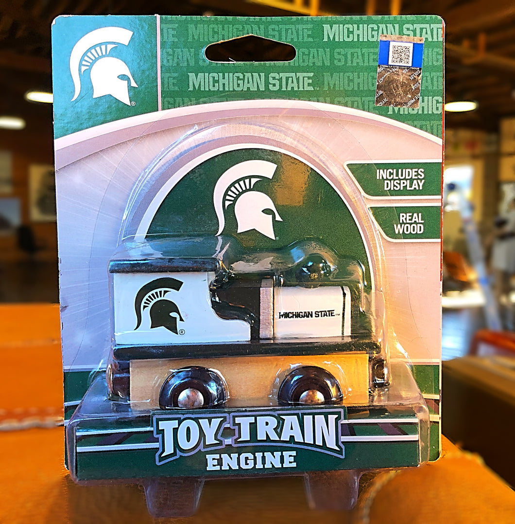 MSU Spartans Wooden Toy Train