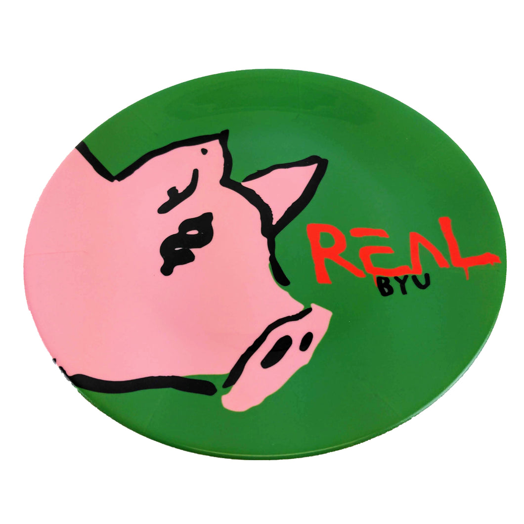 Real Byu Pig Plate - Green